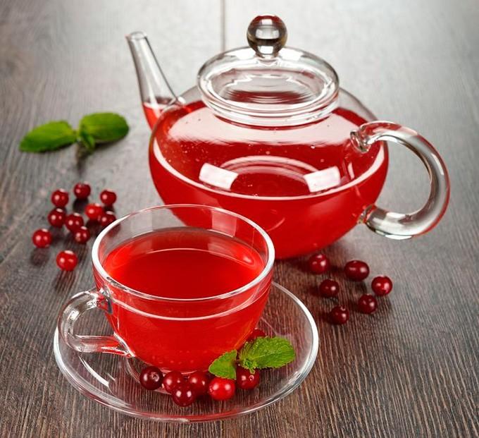 Чай с клюквой