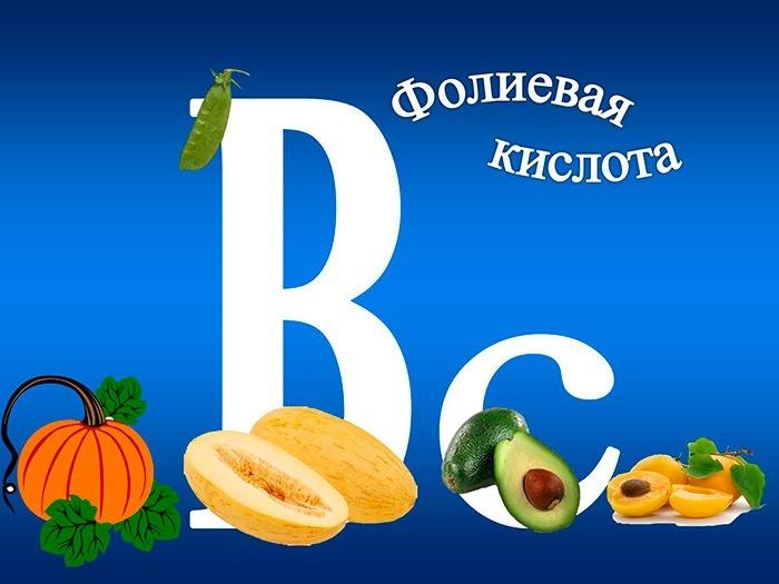 Показания к применению фолиевой кислоты (витамин b9)