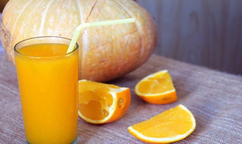 Рецепты тыквенного сока в сочетании с апельсином