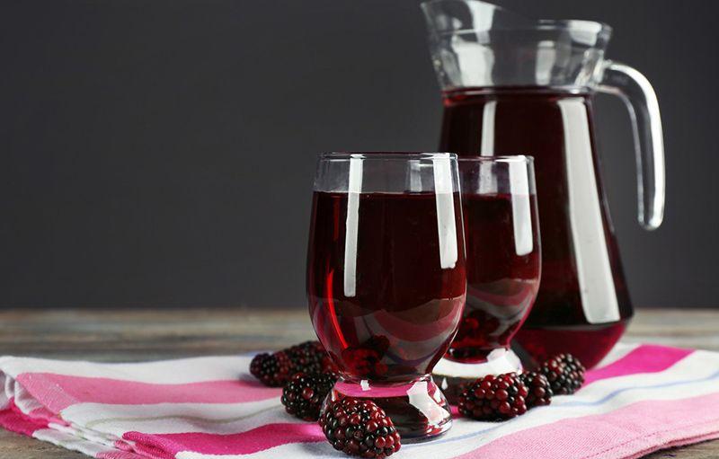 Как делать сок из ежевики дома