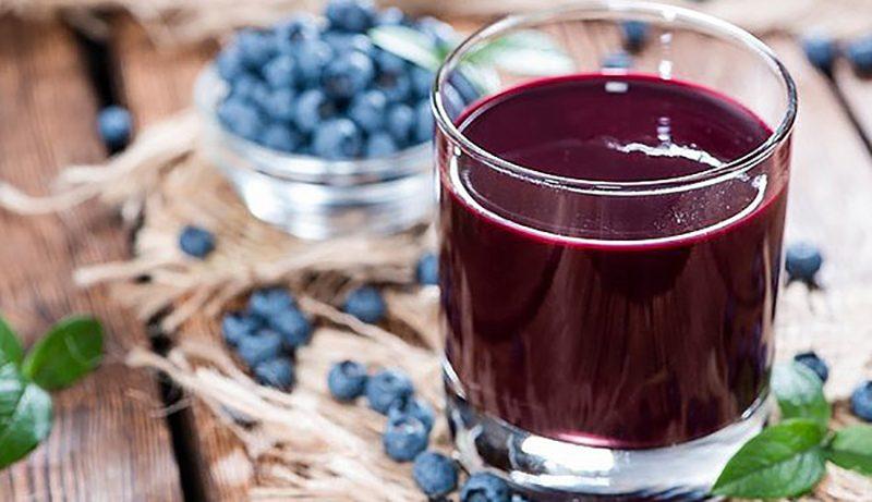 Как делать сок из черники дома